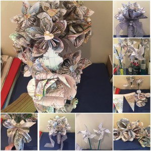 Paper flowers form part of the bespoke wedding service offered by GracieGirl.