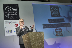 BrownTrout's md Jack Straw speaking at the recent Calies awards.