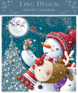 The Ling Design Advent range includes several cheery Christmas designs.