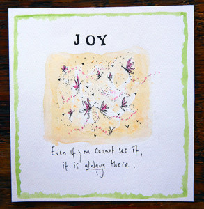 Simply gorgeous sentiment on a Jess Grant design from The Almanac Gallery.