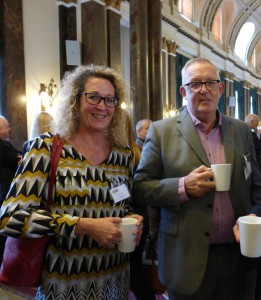 Cardgains' joint md Chris Dyson and Penny Shaw, its marketing director at the GCA AGM.