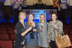 Waterstones' buyer Claire Fitzgerald (2nd left), buying manager Lucy Wilson (2nd right) and Wrendale's founder Hannah Dale (far right) with PG's Gale Astley at the recent Calies awards.