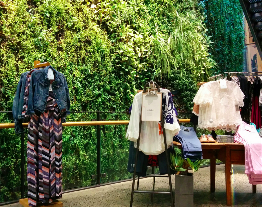 Anthropologie caused lots of 'oohs' when it incorporated a living wall into its Regents Street store.