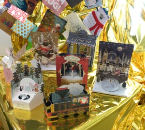 Some of the 3D Christmas cards offered by Paperchase.