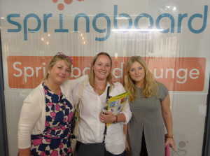 John Lewis' Lisa Rutherford (centre) with (right) colleague Amie Scull (who is currently on sabbatical) and PG's Jakki Brown at last June's PG Live.