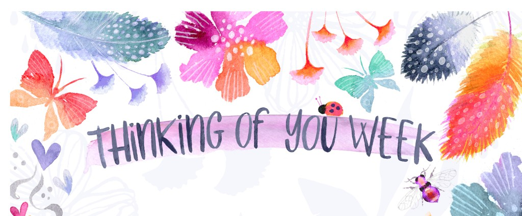 A portion of the preliminary design for the US' translation of Thinking of You Week.