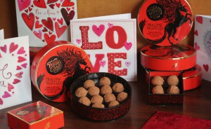 Any Valentine's card order from Blue Eyed Sun will be accompanied with Willie's Cacao chocolates in January.