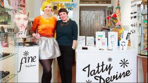 Co-founders of Tatty Devine, Harriet Vine and Rosie Wolfenden.