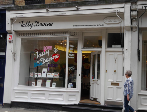 The Tatty Devine stores in London's Brick Lane and Covent Garden celebrate the brand's fun and original approach.