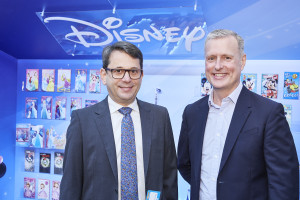 Jeff Weiss (left) current ceo of American Greetings with James Conn (right), the new ceo of UK Greetings from March 1.