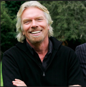 Emily's book has received an endorsement from Richard Branson.
