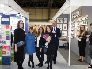 The Paperchase gang visit the Debut area at Spring Fair this year.