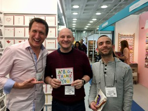 Paul Jarman (centre) and Danny Ingram from Creased Cards, Brighton.