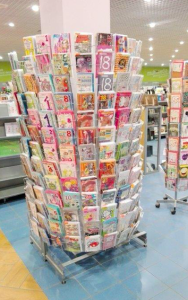 Some Kukartka cards in a store in Poland.