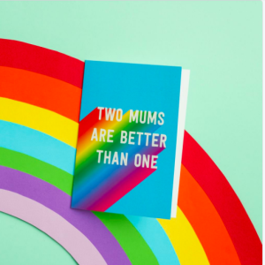 A Scribbler Mother's Day design that caters for same sex couples.