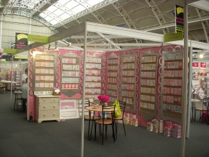 Paper Salad's stand in the 'early years'.