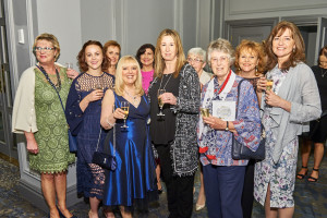 PG&G's Sue Marks (in blue) with the MiMi team at last year's Greats.