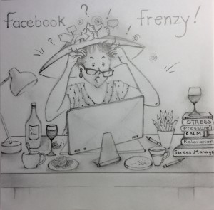 A drawing by Berni depicting her outrage.