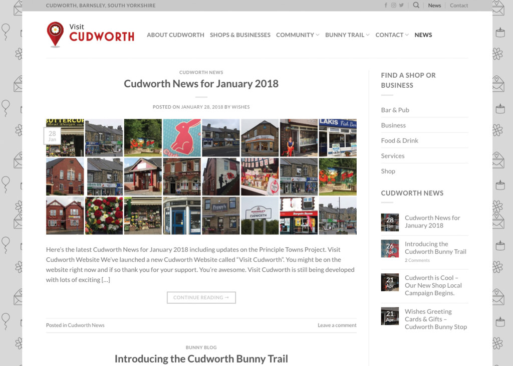 The new Visit Cudworth community website.