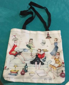 The tote bag using Berni Parker's images illegally that first alerted her to the IP theft.