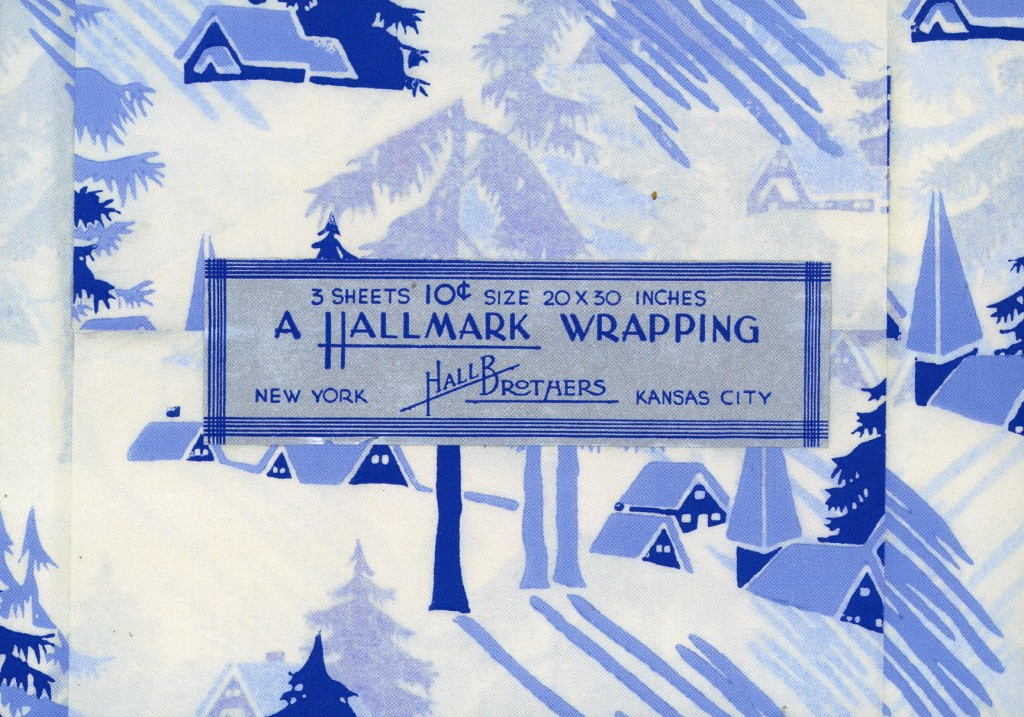 It is now 100 years since the Hall brothers hit upon the idea of selling decorative envelope liner tissue paper as packaged giftwrap.