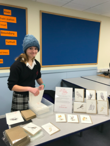 Plucky publisher, Adie Matson of Red Turtle Cards set her stall out at a school parents' evening and sold 86 cards at £2.50 each.