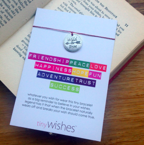 Show someone you're thinking of them with a wish bracelet from Tiny Wishes.