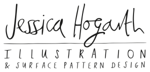 Jessica Hogarth's new logo features her own handwriting.