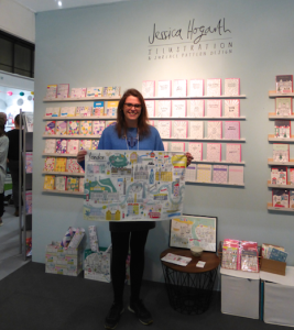 Jessica on her stand at Spring Fair where the new livery was first showcased.