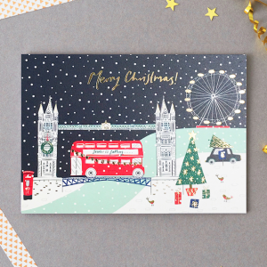 One of the new Christmas card designs from Jessica Hogarth.