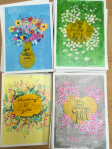 Some of the cards Sarah Lovell has donated.