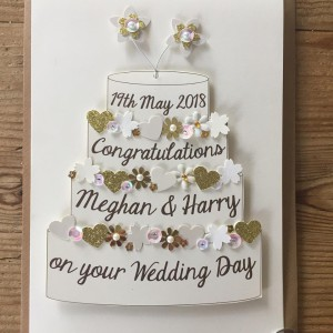 A bespoke card for Harry and Meghan in Gifted, Thaxted.