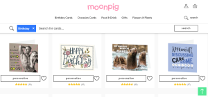Moonpig is broadening its online selection of non-personalised cards.