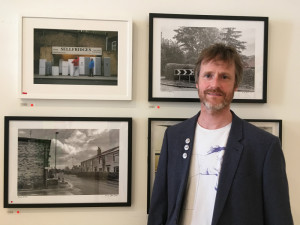 Dominic Greyer with some of his monochrome images that impressed the RA committee.