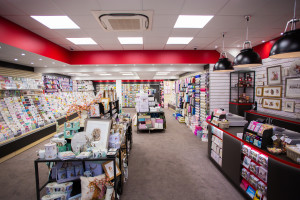 The contemporary interior of House of Cards' new look in its Wallingford store.