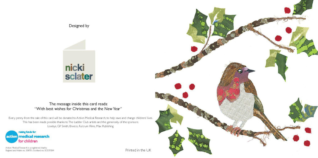 One of the card designs from Nicki Sclater