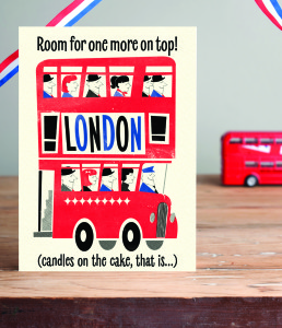 A London bus is a great way to see the UK's capital city – as seen on a Pennychoo design.