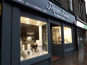The new look frontage of the Paper Kisses at Broughty Ferry store.
