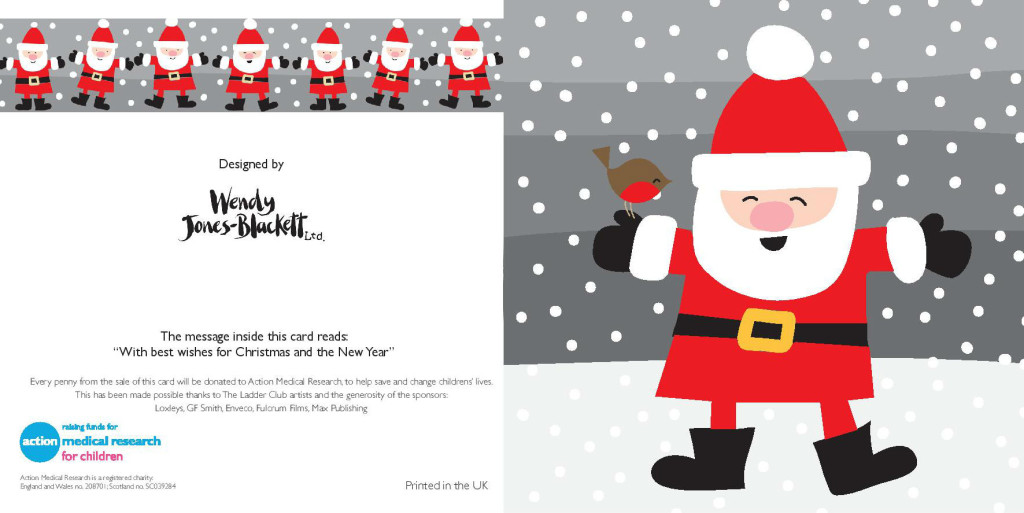 A design from Wendy Jones-Blackett included in the charity packs this year.