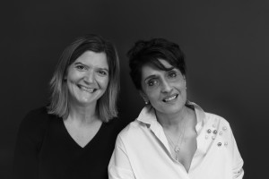 Santoro co-founder Meera Santoro (right) with the company's general manager, Jo Campbell.