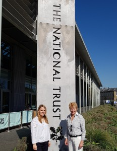 Dids Macdonald OBE, ceo of ACID (right) with Laura Vincent, senior retail designer for the National Trust.