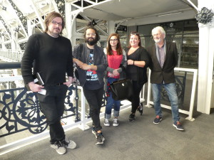 Some of the Scribbler team visited the BDC last week to plan what they will do in the Gallery Hall at the show. (Left-right) John Procter, Gemma Rochester, Galena Ivanova, xxxxx xxxxx and Andrew Webb.