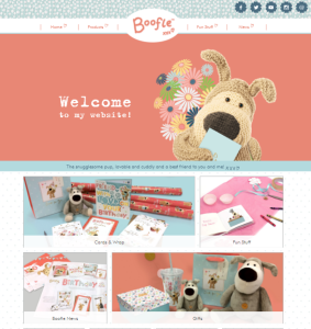 Revamped Boofle website aligned with new look.