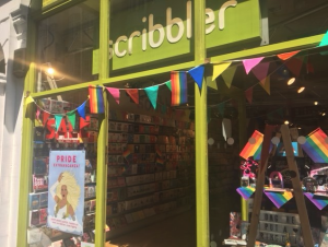 Scribbler's Wardour Street store got a colourful makeover for the Pride parade. Image: Twitter