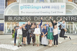 A group of very happy publishers and retailers literally jumping for joy outside PG Live last month.