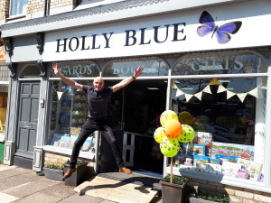 Michael Hampson, owner of Holly Blue in Saltburn-by-the-Sea jumped for joy on hearing the shop had made it into the finals of The Retas 2018.