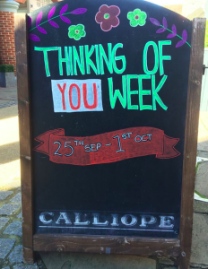 Calliope Gifts (which has stores in Dorking, Haywards Heath and Alton) got right behind Thinking of Your Week last year and has reached the finalists of The Retas for its enterprising promo for the Week.