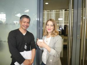 Ezen's David Wertheim with Frost's Karen Denton, one of the Dragons.