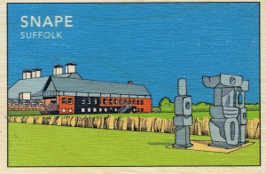 The Wooden Postcard Company has created bespoke designs for Snape Maltings.