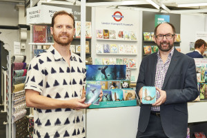 Museums and Galleries' creative director Ben Dorney and licensing manager Eddie Clarke on the company's stand at PG Live at which it officially launched the BBC Earth collection.